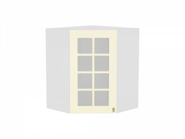 Шкаф верхний угловой Прованс ВУ590 со стеклом